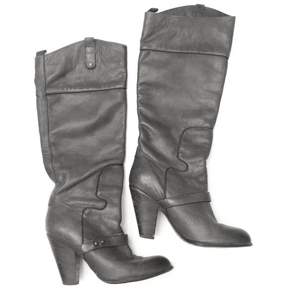 70f4d382205cf4 Sam Edelman Shoes - SAM EDELMAN Gray Cowboy Style Tall Boots Sz 8.5